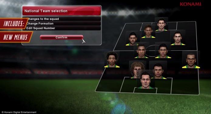 Escale a sua própria seleção no game (Foto: Divulgação)