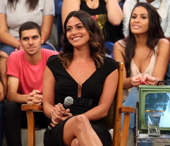 Carol Castro participa da gravação do Altas Horas (Foto: Carol Caminha/Gshow)
