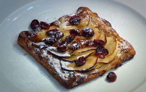 Torta de maçã com cranberries