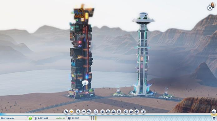Torres gigantes em SimCity desafiam a física para o seu conforto (Foto: Reprodução/Simtropolis)