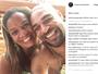 Adriano posa com a mãe e seguidores comentam erro de português
