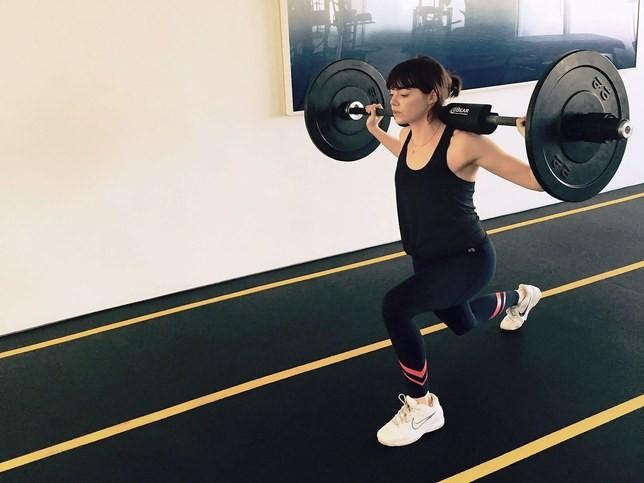 Emma Stone fez um treino pesado (Foto: Instagram/Reprodução)