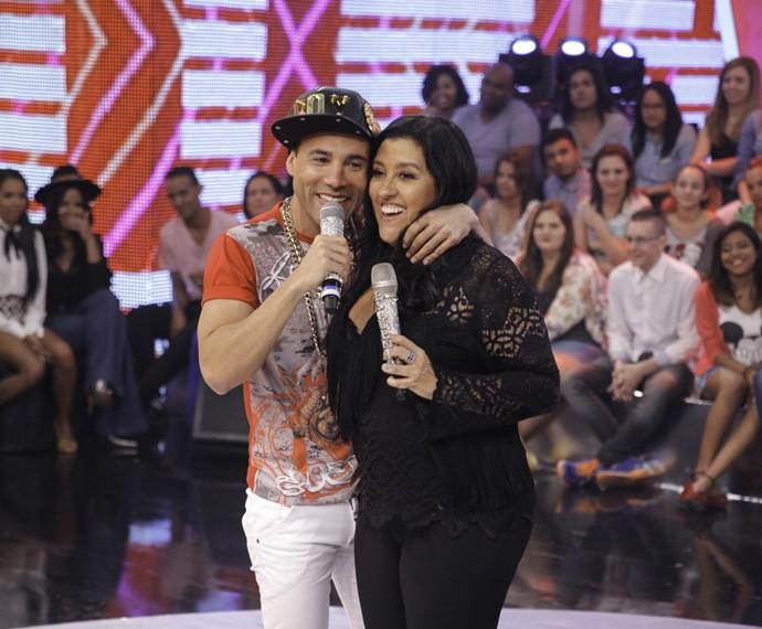 Xefinho agradeceu a oportunidade de cantar no Esquenta! sua música  (Foto: João Pedro Januário)