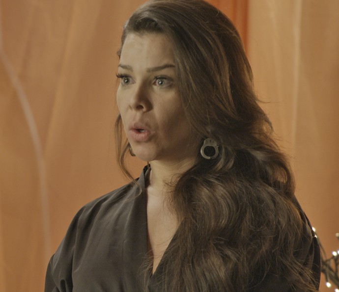 Mel provoca Janete (Foto: TV Globo)