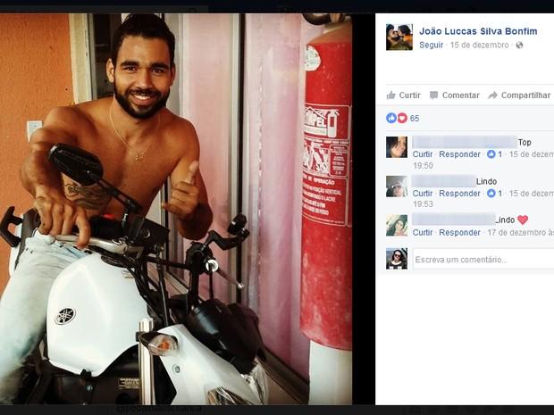 Jovem foi morto por vizinho em Marília (Foto: Reprodução/Facebook/João Luccas Silva Bonfim)