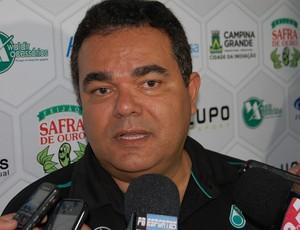 Eduardo Medeiros, presidente do Treze (Foto: Silas Batista / GloboEsporte.com)