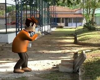 Zé do Bairro na Itapuca em Resende (Foto: Reprodução: RJTV 1ª Edição)