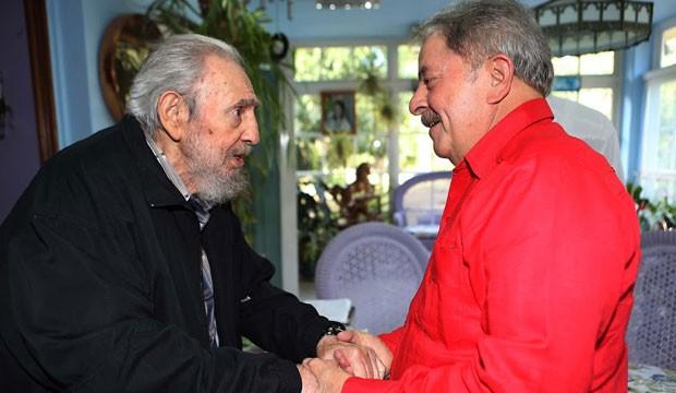 Fidel Castro e Lula, em Cuba (Foto: Ricardo Stuckert/Instituto Lula)