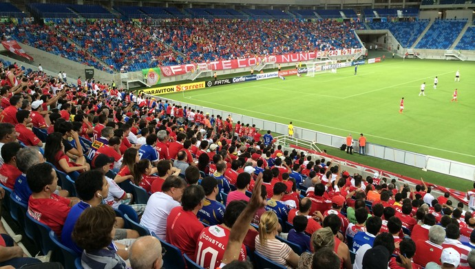 Arena das Dunas - cerca de 5 mil pessoas estiveram no primeiro jogo pós-Copa da Arena das Dunas (Foto: Jocaff Souza/GloboEsporte.com)