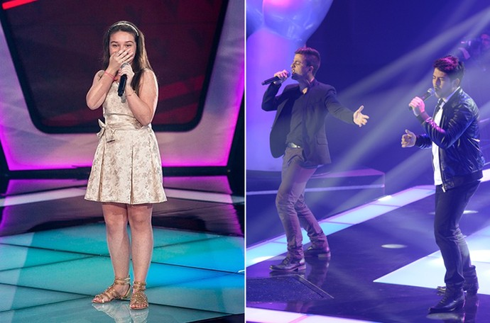 Pérola Vitor e Vanuti The Voice Brasil (Foto: Isabella Pinheiro/ Renato Rocha Miranda/ Gshow)