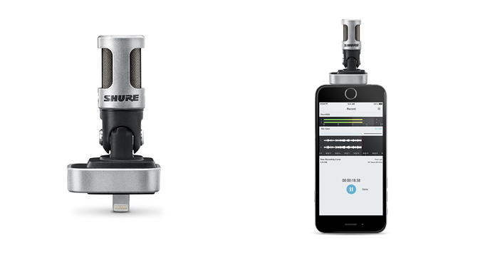 Microfone é compatível com iOS através de porta Lightning (Foto: Divulgação/Shure)