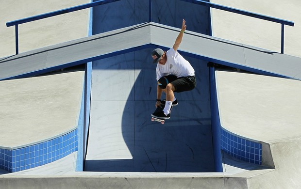 skate Pedro Barros nos X Games em Los Angeles (Foto: Getty Images)