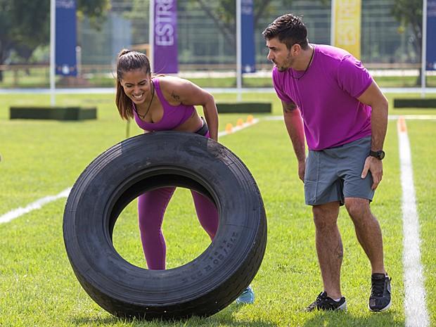 Anitta está se esforça para não perder a boa posição na prova (Foto: Fabiano Battaglin / Gshow)