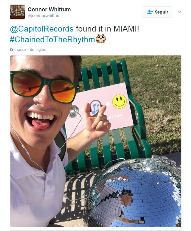 Divulgação da nova música de Katy Perry (Foto: Reprodução/Twitter)