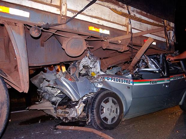 Acidente na BA-262, em Brumado, na Bahia (Foto: Wilker Porto / Brumado Agora)