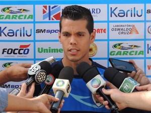 Meia-atacante Hiago foi apresentado como reforço (Foto: Pedro A. Rampazzo/Site oficial do Londrina)