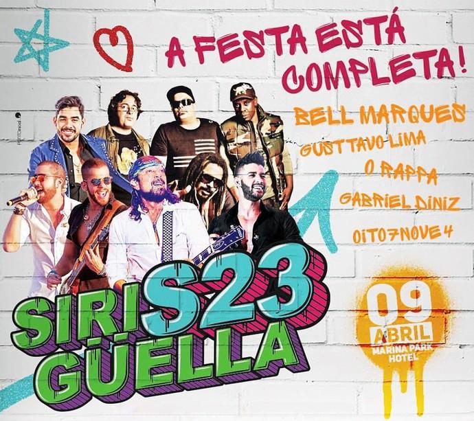 Atrações confirmadas para o aniversário do Siriguella. (Foto: Divulgação)