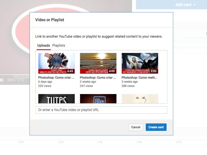 Escolha um vídeo ou insira a url de uma playlist (Foto: Reprodução/André Sugai)