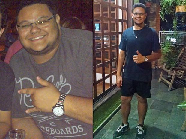 O estudante segue focado no novo estilo de vida e diz que ainda quer perder mais 5 kg (Foto: Arquivo pessoal/Thiago Lisboa Pereira)