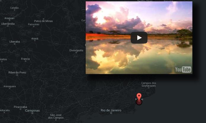 YouTube Map Explorer: mapa ajuda a encontrar vídeos espalhados pelo mundo (Foto: Reprodução/YouTube Map Explorer)