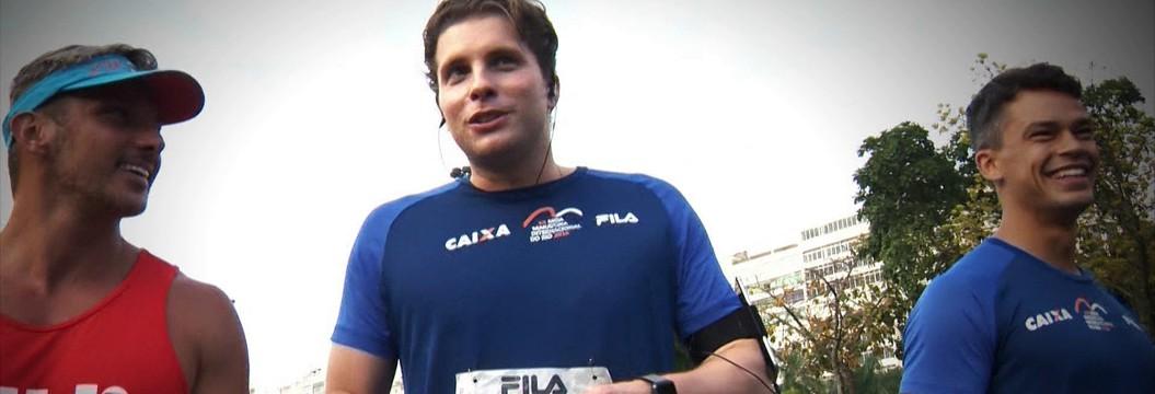 Ator Thiago Fragoso participa de prova na  Meia do Rio e volta a correr após cinco anos