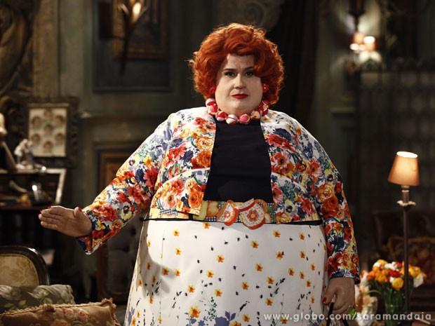 Vera Holtz leva 4h para se transformar em dona Redonda (Foto: TV Globo/ Saramandaia)