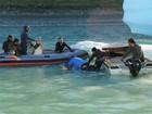 Domingos Montagner mergulha em meio a icebergs para gravar cena na Patagônia