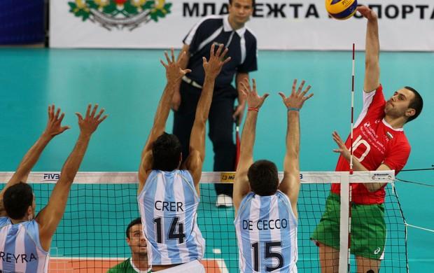 Bulgária Argentina Liga Mundial vôlei (Foto: Divulgação/FIVB)