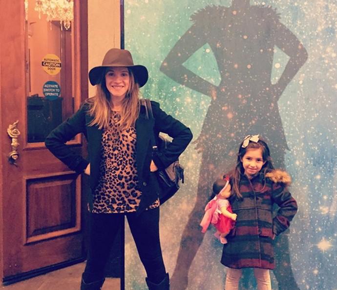A atriz Ingrid Guimarães é mamãe da pequena Clara (Foto: Arquivo pessoal)
