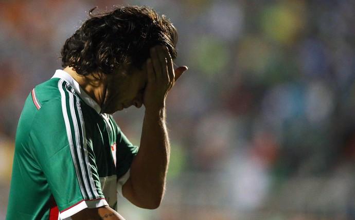 Palmeiras x Flamengo - Valdívia lamenta expulsão (Foto: Agência Estado)