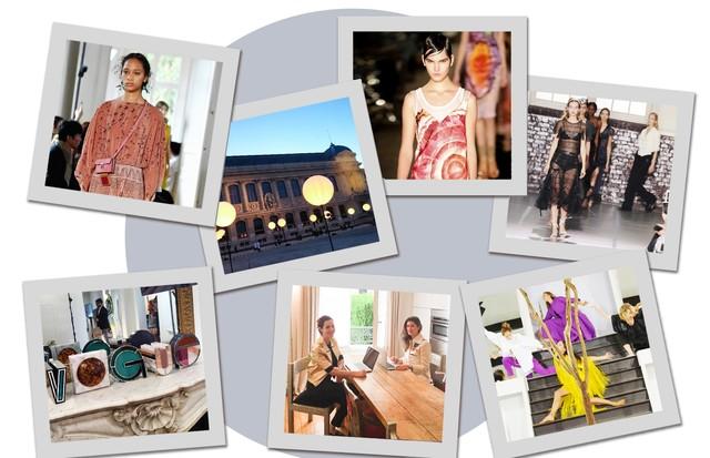 A maratona do time da Vogue em Paris (Foto: Arte Vogue Online)