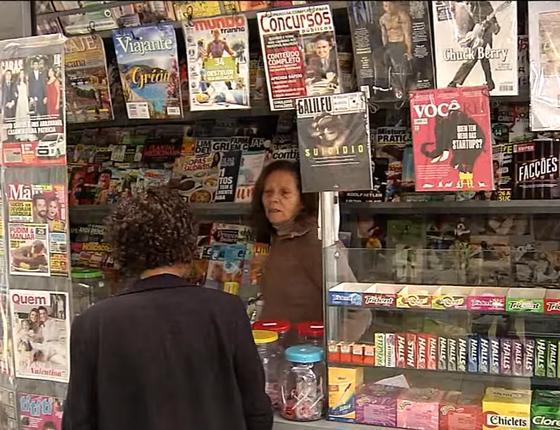Banca de jornal (Foto: Reprodução/ Youtube)