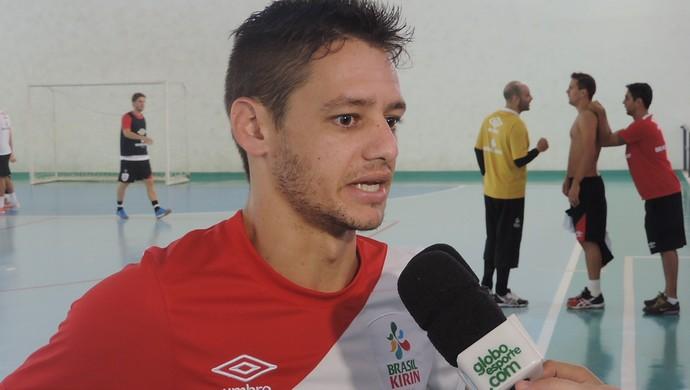 Xuxa, ala do Sorocaba Futsal (Foto: Emilio Botta)