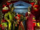 Vitrine natalina de loja sofisticada de Nova York parece obra de arte