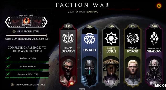 Mortal Kombat X mostra o sistema de facções em ação (Foto: Reprodução/GameSpot)