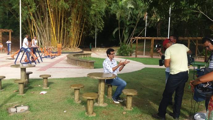 Bastidores Aprovado Parque da Cidade (Foto: TV Bahia)