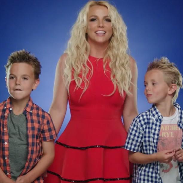 Britney Spears com os filhos (Foto: Instagram / Reprodução)