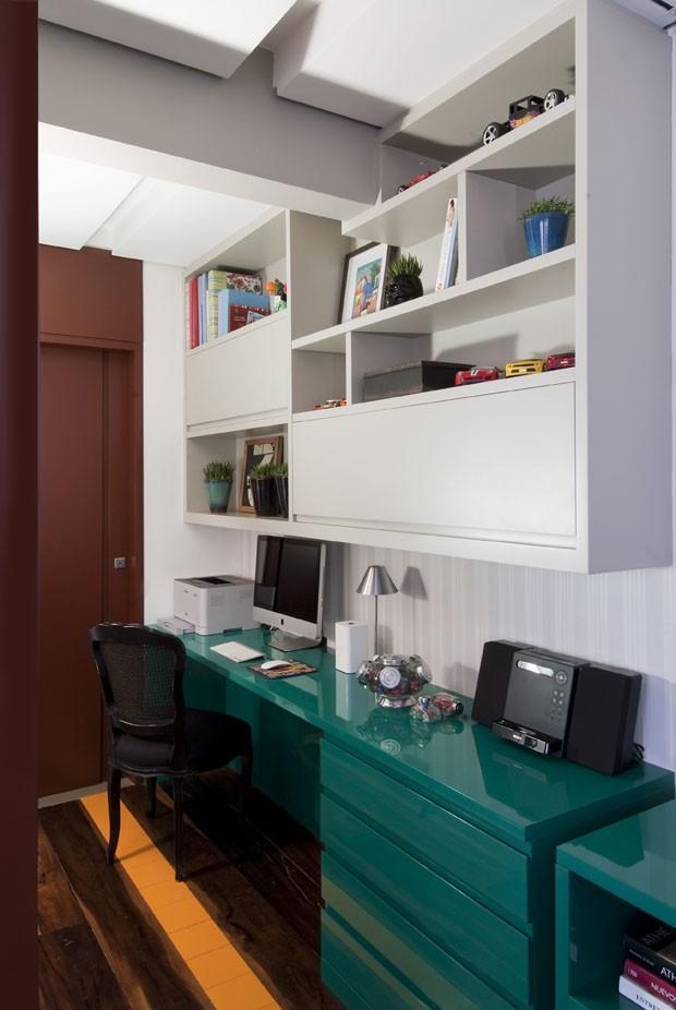 Apartamento de 93m² abusa das cores e texturas no décor (Foto: Divulgação)