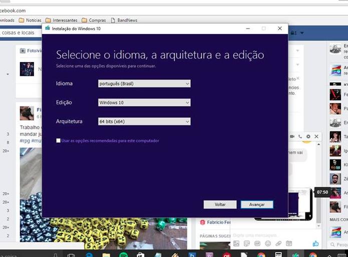 Processo de atualização do Windows 10 64-bit (Foto: Reprodução/Felipe Vinha)