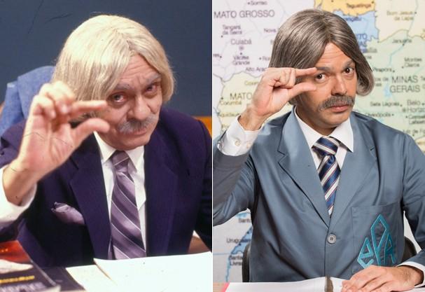 Chico Anysio e Bruno Mazzeo: Professor Raimundo (Foto: Reprodução e Divulgação)