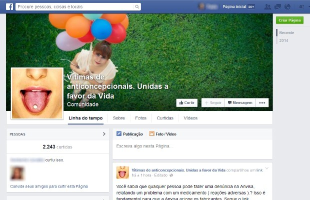 Carla e Simone criaram perfil no Facebook para reunir mulheres com o mesmo diagnóstico em Goiás (Foto: Reprodução/ Facebook)