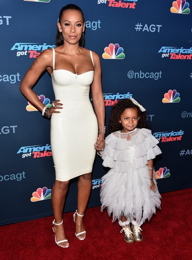 Mel B e a filha caçula, Madison (Foto: Alberto E. Rodriguez/Getty Images)