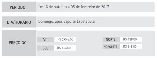 preço escolinha (Foto: Marketing TV Gazeta)