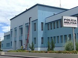 PM está preso em cela do 4º BPM em Uberaba (Foto: Reprodução/TV Integração)