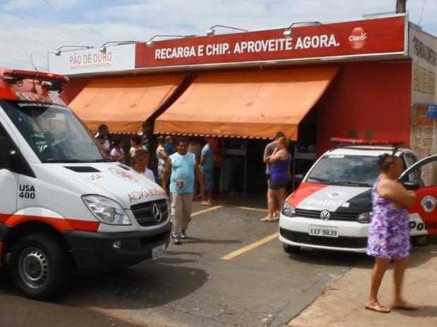Empresário foi assassinado dentro de padaria do bairro Santa Angelina (Foto: Arquivo/EPTV)