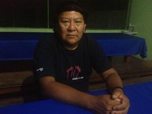 Líder indígena Davi Kopenawa teme conflito entre índios e garimpeiros  (Foto: Emmily Melo/G1)