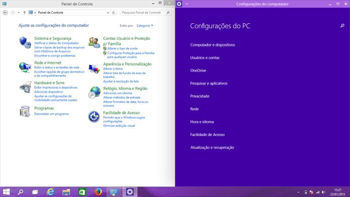Windows 10 une os dois aplicativos para configurações presentes no Windows 8 (Foto: Reprodução/Elson de Souza)