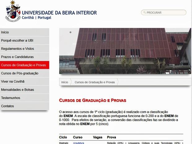 Reprodução do site criado para os brasileiros (Foto: Reprodução)