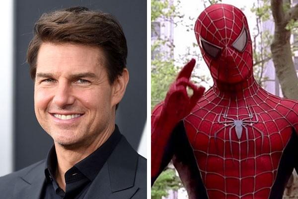 O ator Tom Cruise e o Homem-Aranha de Tobey Maguire  (Foto: Getty Images/Reprodução)