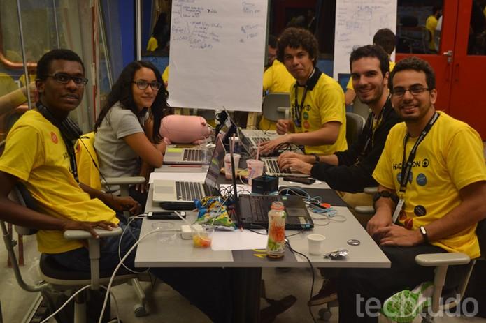 Grupo 10 - Hackathon Globo (Foto: Caio Bersot/TechTudo)